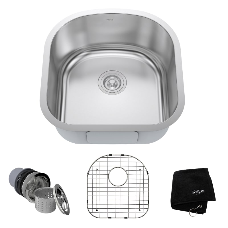 846639012430 upc kraus 20 inch undermount single bowl 16 gauge upc lookup. Black Bedroom Furniture Sets. Home Design Ideas