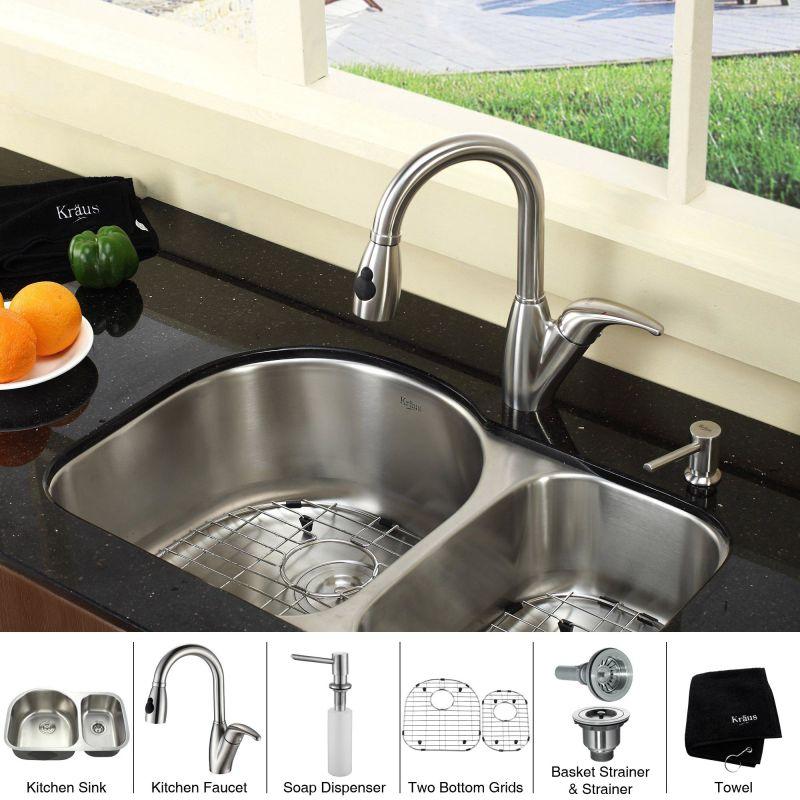 Undermount Sink Ikea : ... -KPF2121-SD20 Kitchen Combo - 30 Undermount 60/40 Double Bowl 16 Gau