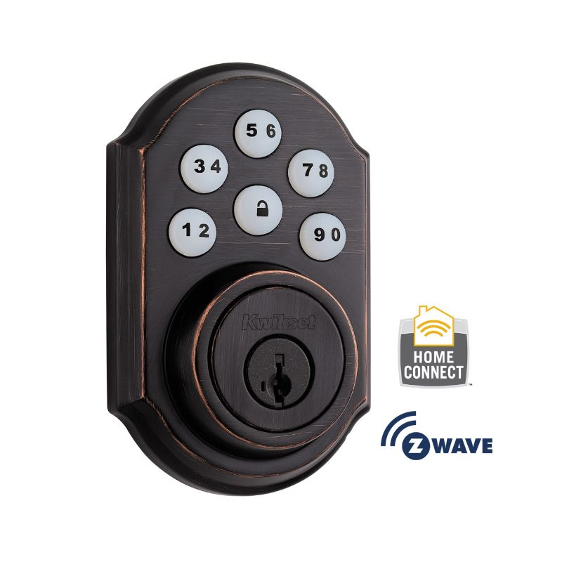 Kwikset 910TRL-ZW SmartCode Electronic Deadbolt with Z-Wave Technology photo