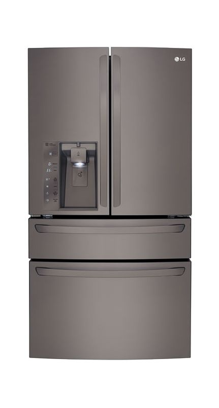 LG LMXC23746 36 Inch Wide 23.3 Cu. Ft. Counter Depth Refrigerator with Customchi photo