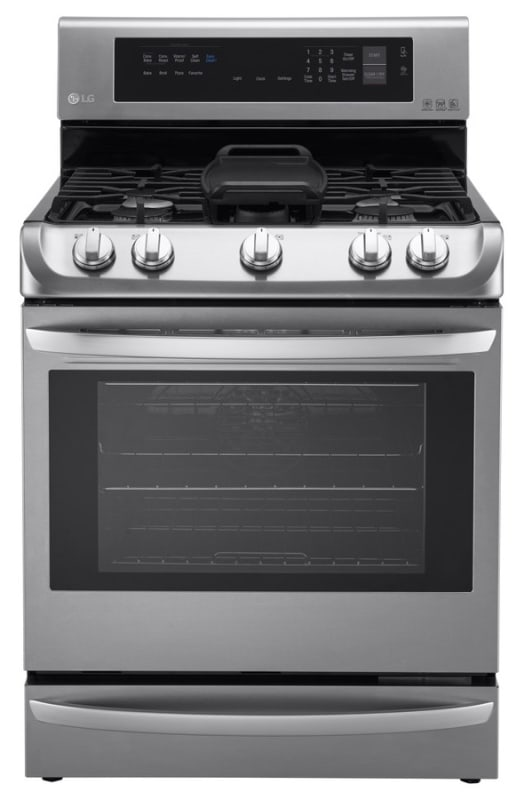 LG LRG4115 30 Inch Wide 6.3 Cu. Ft. Free Standing Gas Range with ProBake Convect photo