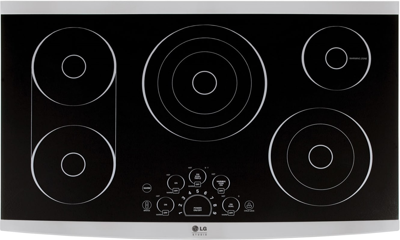 LG LSCE365 36 Inch Wide Built-In Electric Cooktop with Triple Elements and Optio photo