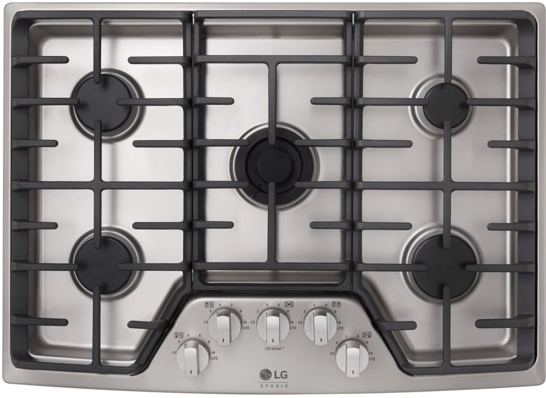 LG LSCG307 30 Inch Wide Built-In Gas Cooktop with UltraHeat Dual Burners photo