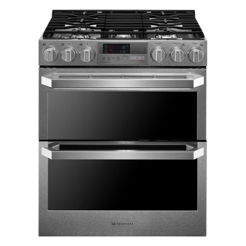 LG LUTD4919SN 30 Inch Wide 7.3 Cu. Ft. Slide-In Dual Fuel Range with ProBake Con photo