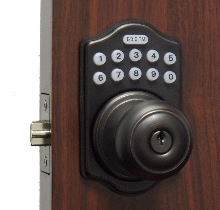 Lockey E-930 R Electronic Keypad Knob Handleset, Remote Control Capable, 6 User Deal