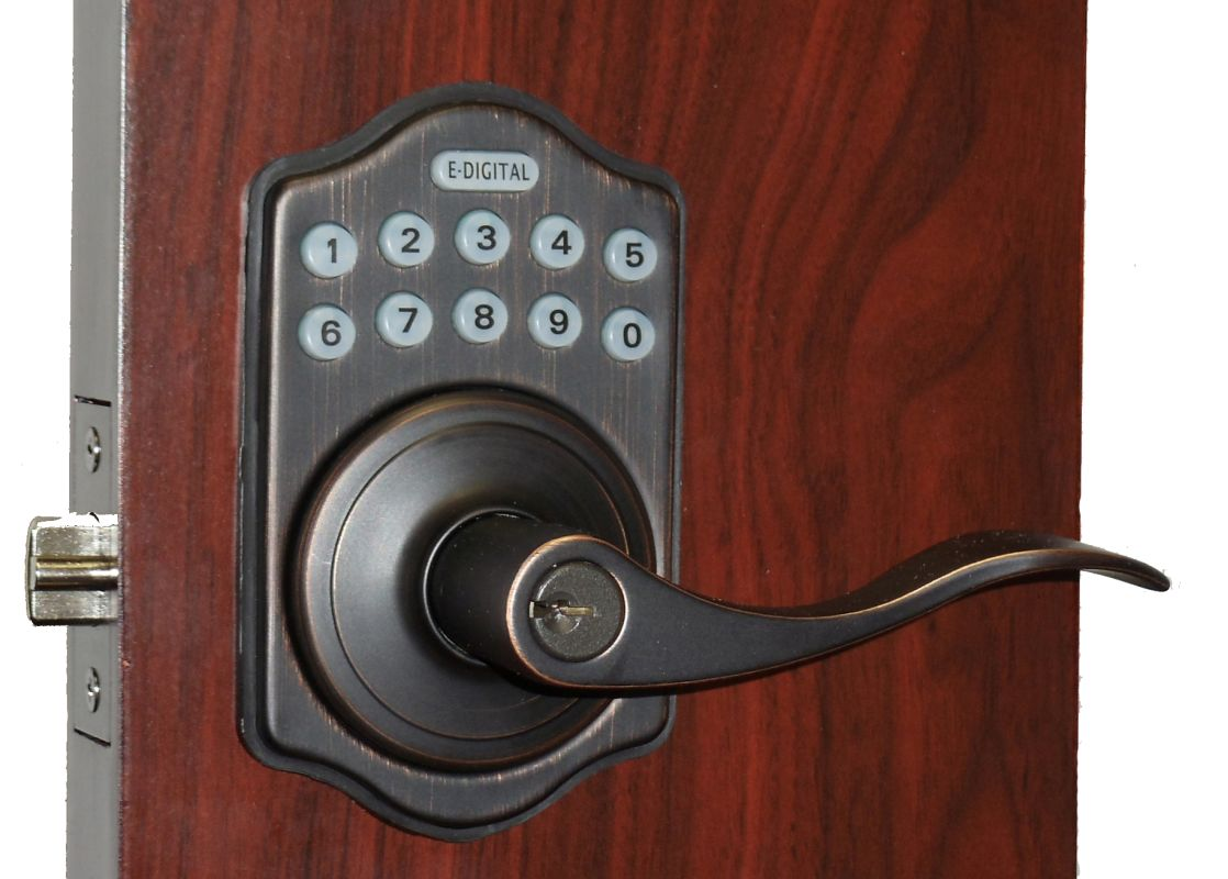 Lockey E-985 R Electronic Keypad Lever Handleset, Remote Control Capable, 6 User Deal