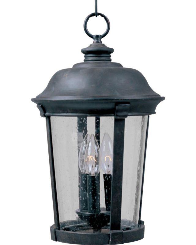 Maxim 3028 Dover DC 3 Light Outdoor Lantern Small Pendant photo