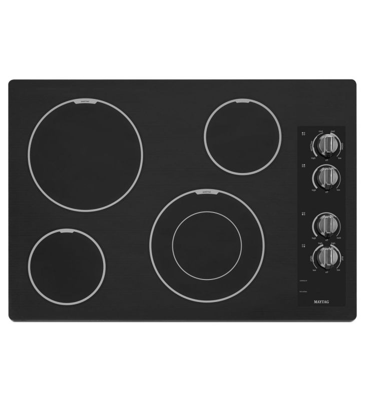 Maytag MEC7430B 30 Inch Wide Electric Cooktop with Speed Heat Element photo