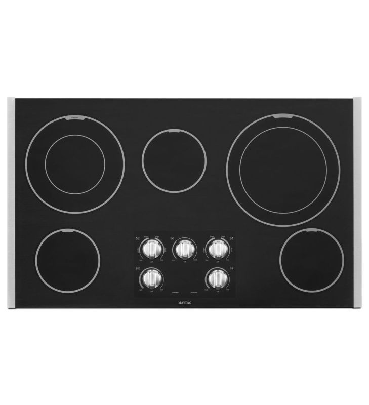 Maytag MEC9536B 36 Inch Wide Electric Cooktop with Two Dual-Choice Elements photo