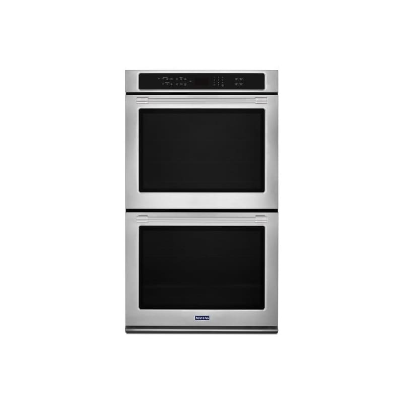 Maytag MEW9627F 27 Inch Wide 8.6 Cu. Ft. Electric Double Wall Oven with Precisio photo