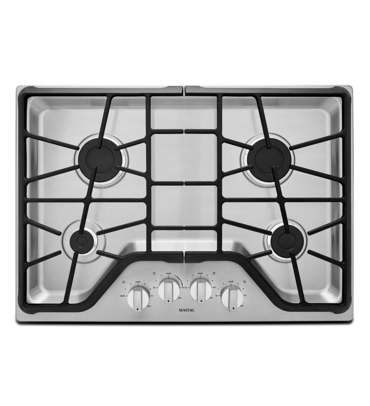 Maytag MGC7430D 30 Inch Wide Built-In Gas Cooktop with 15,000 BTU Power Burner photo