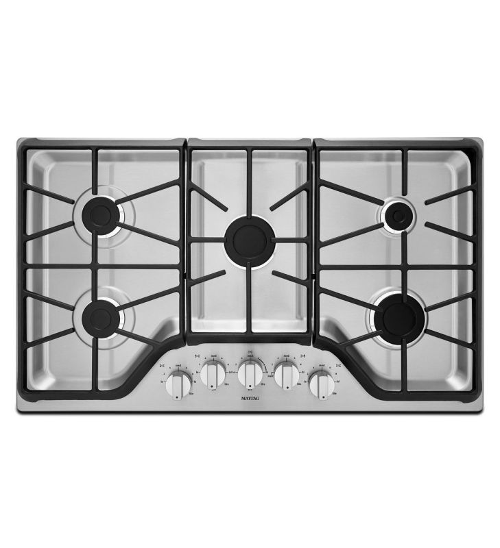 Maytag MGC7536D 36 Inch Wide Five Burner Gas Cooktop with 15,000 BTU Power Burne photo