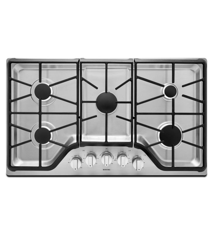 Maytag MGC9536D 36 Inch Wide Five Burner Gas Cooktop with 18,000 BTU Power Burne photo