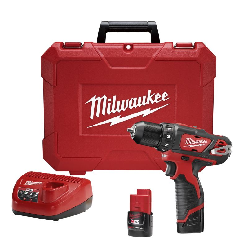 Milwaukee 2407-22 M12a 3\/8 Cordless Drill \/ Driver Kit with 2 Redlithium