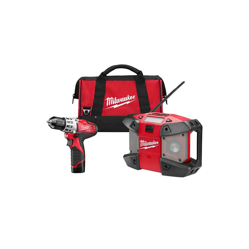 Milwaukee 2492-22 M12 Cordless Tool Combo Kit