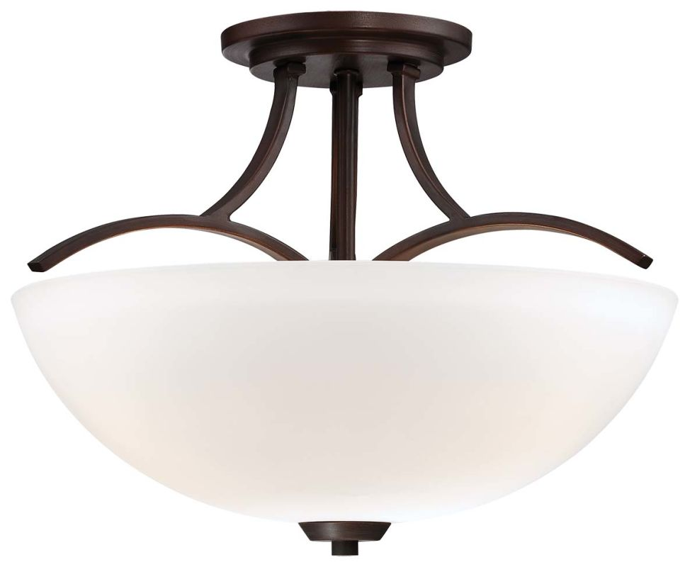 Minka Lavery 4962-284 3 Light Semi-Flush Ceiling Fixture in Vintage Bronze from