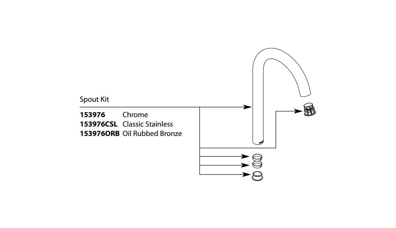 Moen 153976 Spout for Kitchen Faucets