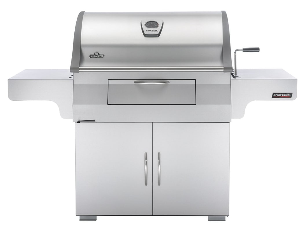 Napoleon PRO605C Prestige Pro 68 Inch Wide Charcoal Free Standing Grill photo