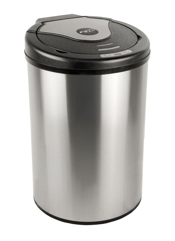Nine Stars DZT-42-17 11.1 Gallon Triangle Shaped Trash Can with Infrared Motion