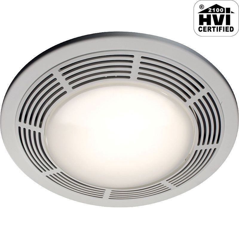 Nutone Decorative Chrome 100 Cfm Ceiling Bathroom Exhaust: NuTone 8664RP White Deluxe 100 CFM 3.5