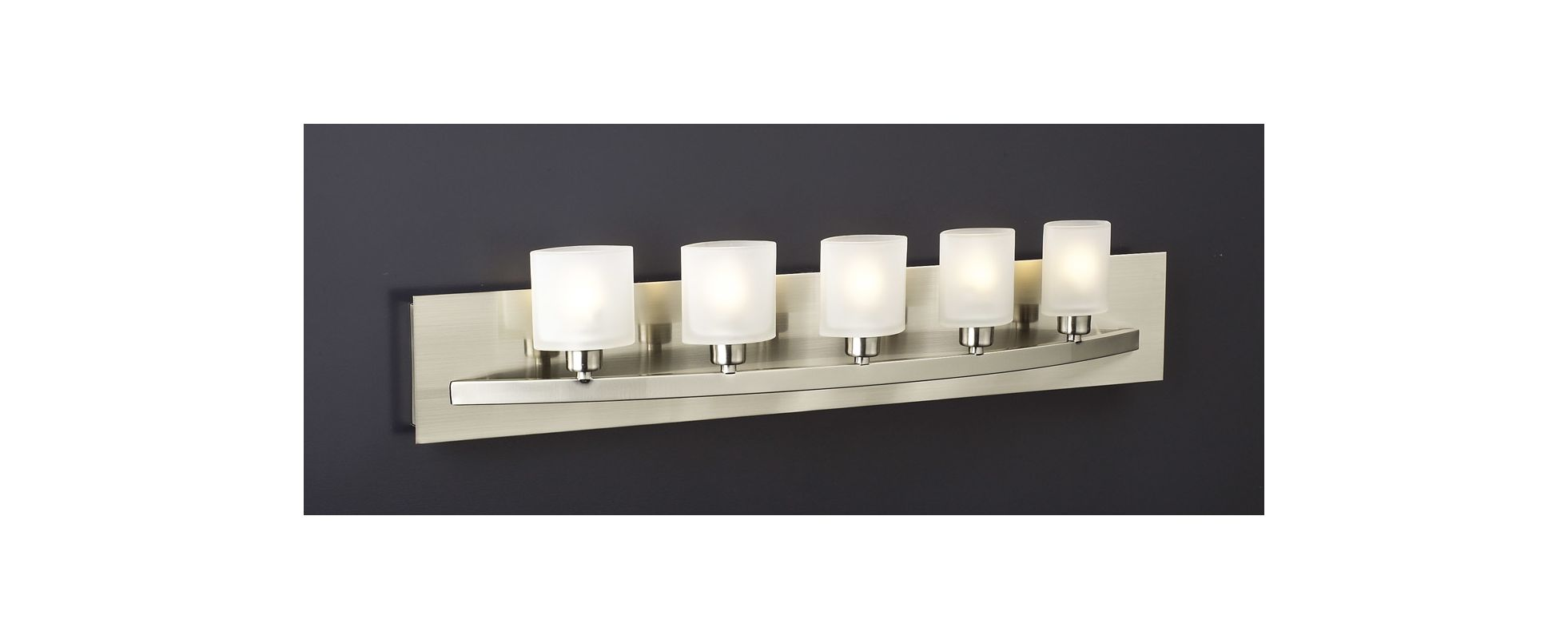 PLC Lighting PLC 645 5 Light Bathroom Fixture from the Wyndham Collection