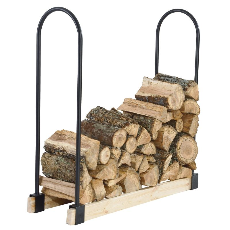 Pleasant Hearth LS932B Outdoor Adjustable Log Storage