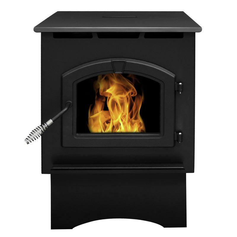 Pleasant Hearth PH35PS Medium 35,000 BTU Wood Pellet Burning Stove with LED Comf photo