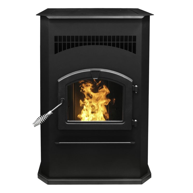 Pleasant Hearth PH50CABPS Cabinet 50,000 BTU Wood Pellet Burning Stove with LED photo