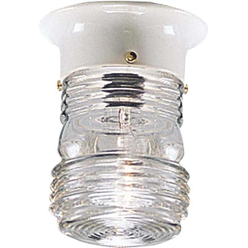 UPC 785247560332 product image for Progress P5603-30 One-light close-to-ceiling in White finish with clear glass. | upcitemdb.com