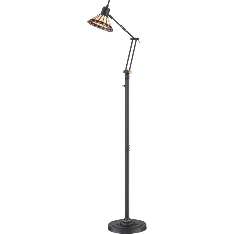 Quoizel TF9152LED Tiffany 1 Light LED Swing Arm Floor Lamp