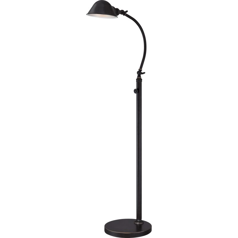 "Quoizel VVTH9348 Thompson LED 49"" Tall Swing Arm Floor Lamp with Metal Shade"