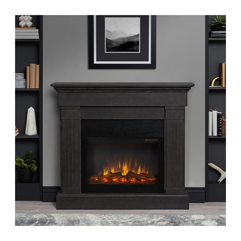 Real Flame 8020E Crawford Slim-Line Electric Fireplace Heater