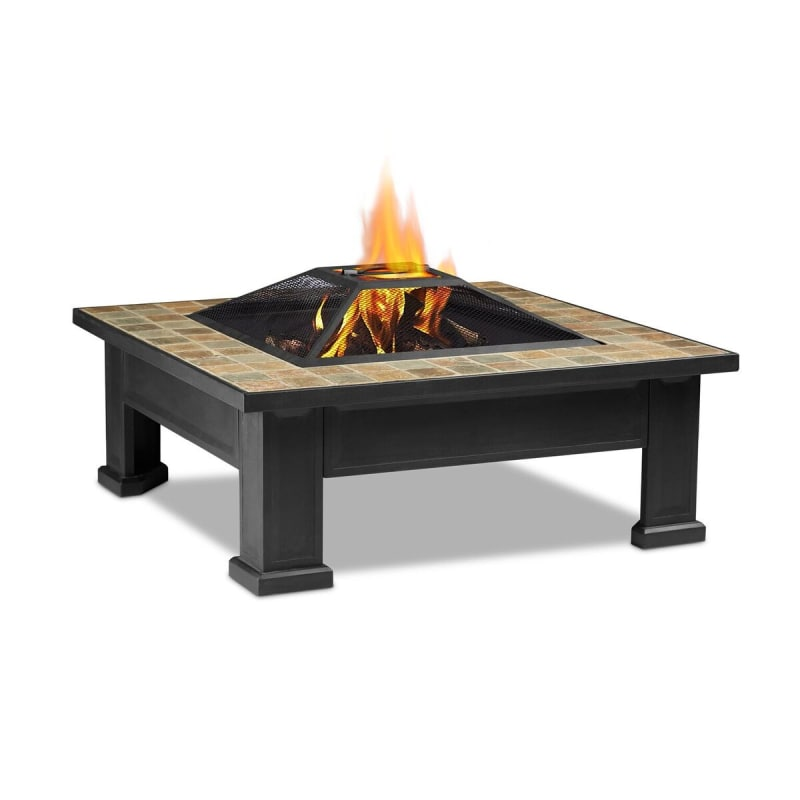 Real Flame 912 35 Inch Square Wood