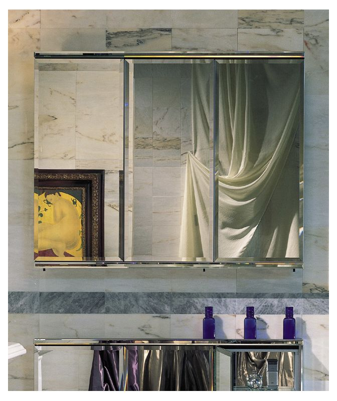 "Robern TFC4838E C Series 48"" Triple Door Mirrored Medicine Cabinet"