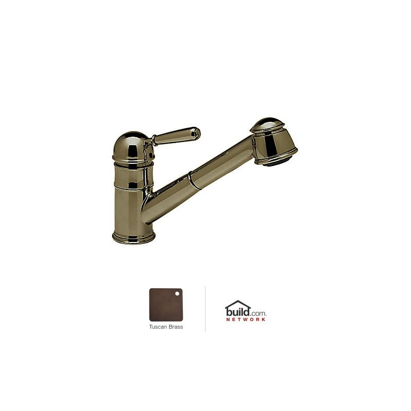 rohl r77v3 country kitchen faucet with pull out spray and metal lever