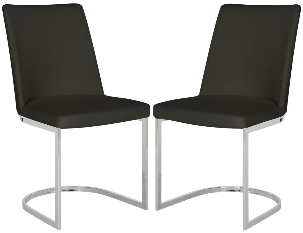 Safavieh FOX2013-SET2 Parkston 18.5 Inch Wide Stainless Steel Accent Chairs (Set -  FOX2013B-SET2