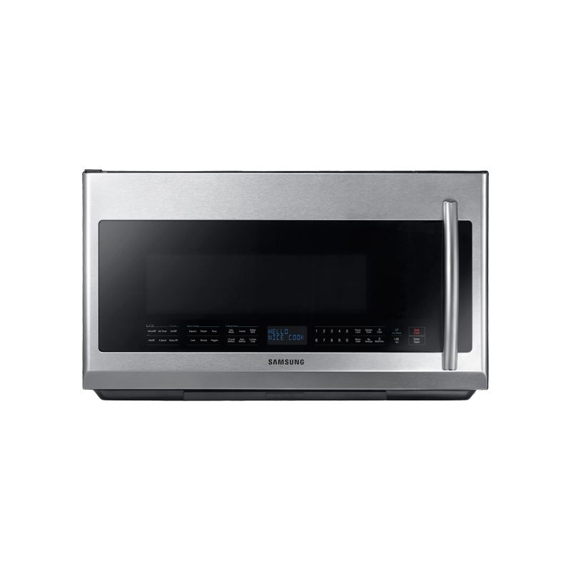Samsung ME21F707MJT 2.1 Cu. Ft. Over-The-Range Microwave with Glass Touch Bottom photo