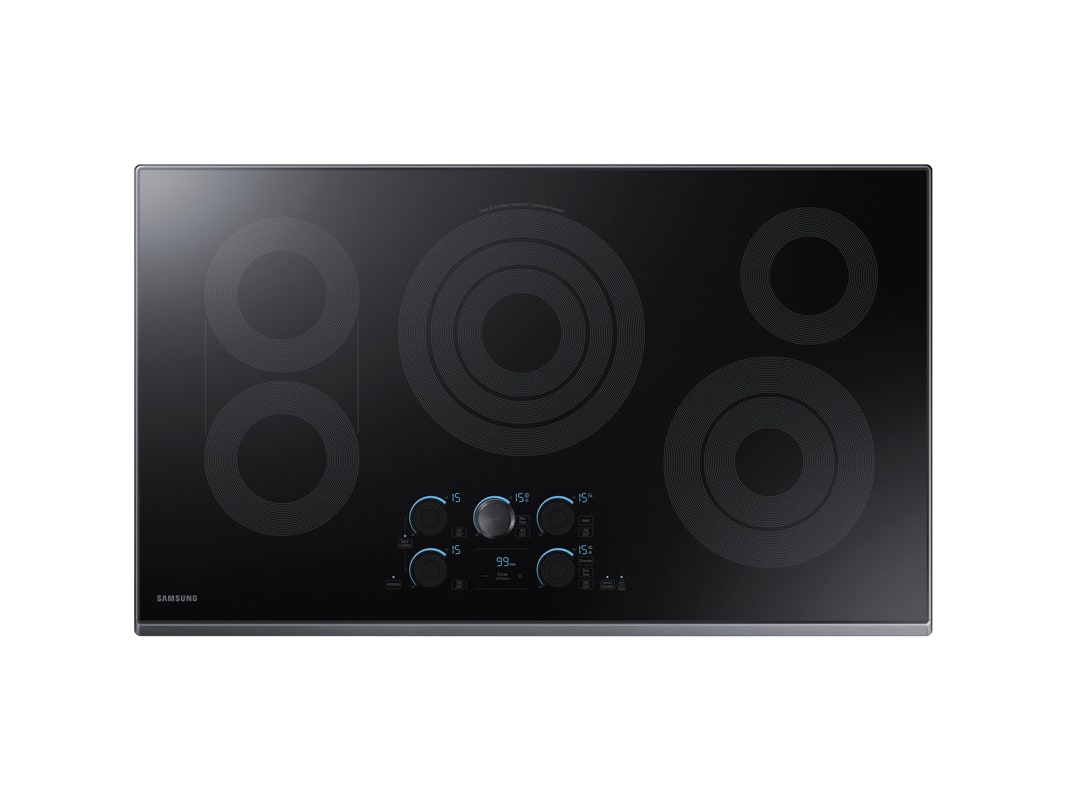 Samsung NZ36K7570R 36 Inch Wide Built In Electric Cooktop with Rapid Boil, WiFi photo