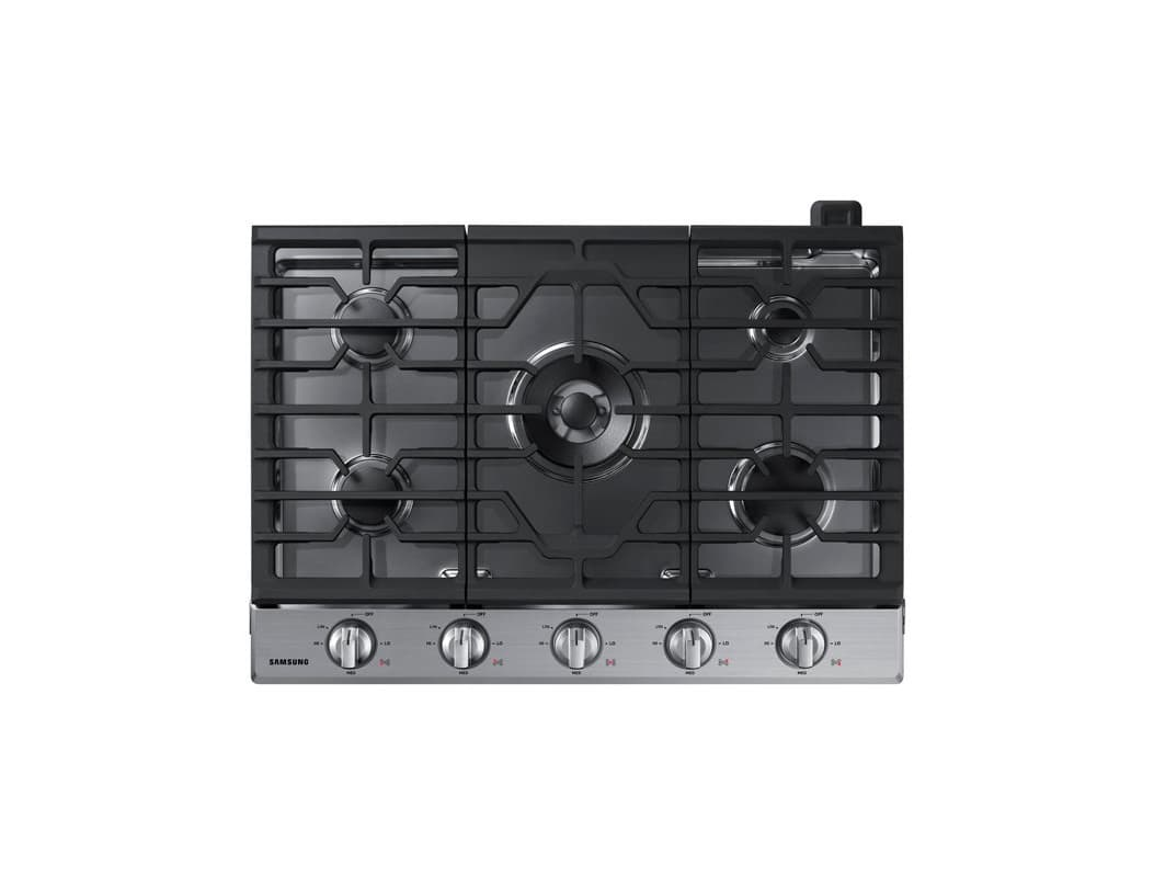 Samsung NA30K6550T 30 Inch Wide Built In Gas Cooktop with Blue Backlit LED Knobs photo