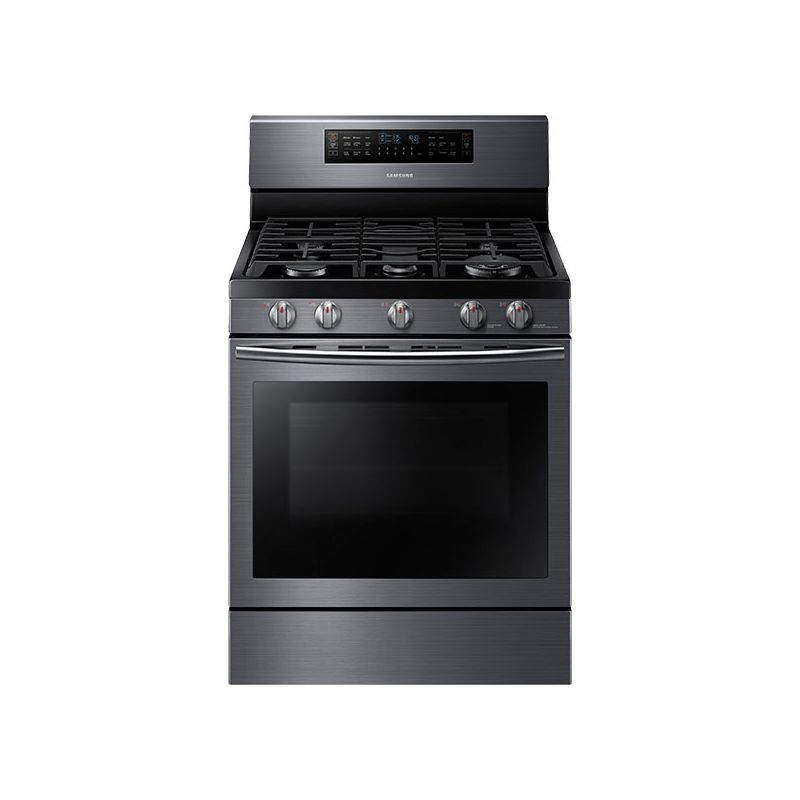 Samsung NX58J7750S 30 Inch Wide 5.8 Cu. Ft. Free Standing Gas Range with Gliding photo
