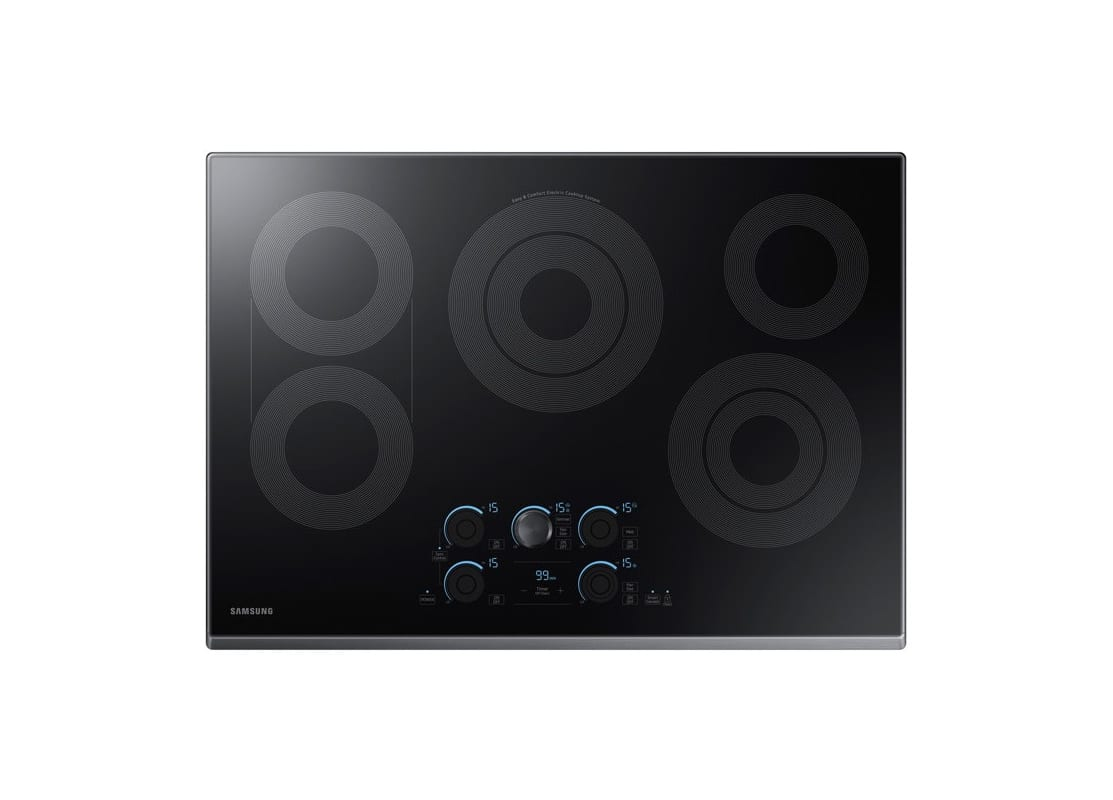 Samsung NZ30K7570R 30 Inch Wide Built In Electric Cooktop with Rapid Boil, WiFi photo