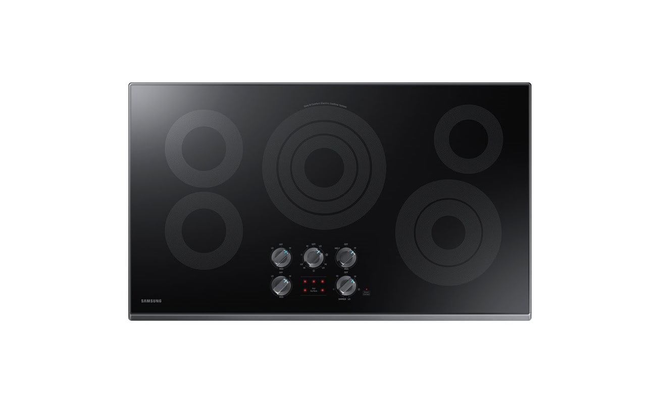 Samsung NZ36K6430R 36 Inch Wide Built In Electric Cooktop with Rapid Boil and Wi photo