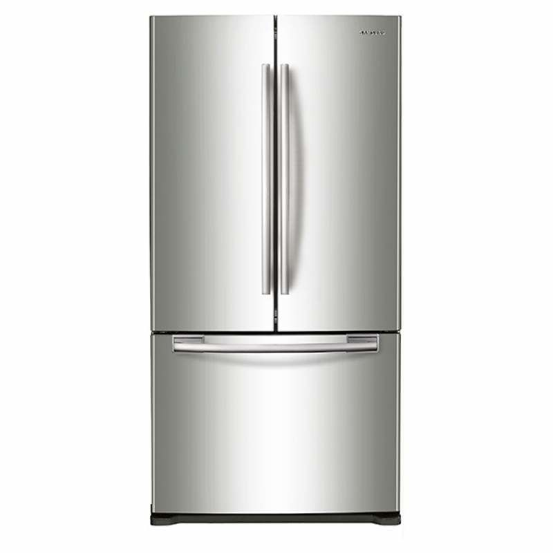 Samsung RF18HFENB 33 Inch Wide 17.5 Cu. Ft. French Door Refrigerator with Contou photo