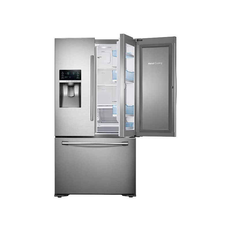 Samsung RF23HTEDB 23 Cu. Ft. Capacity 36 Inch Wide Counter Depth French Door Ref photo