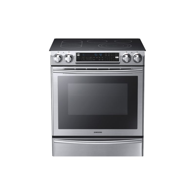 Samsung NE58F9710WS Slide-In Electric Range with Flex Duo Oven photo