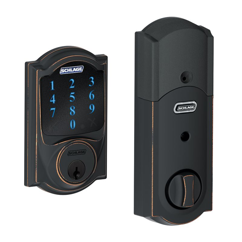 Schlage BE469NX-CAM Connect Camelot Touchscreen Electronic Deadbolt with Built-i photo