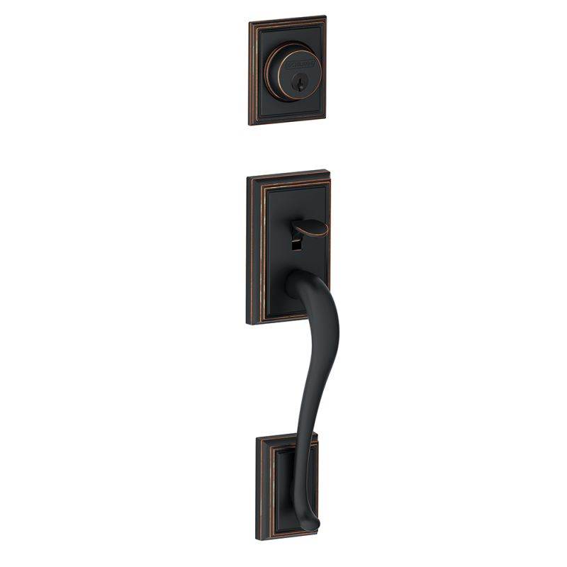 Schlage F58add716 Aged Bronze Front Door Handleset Build Com