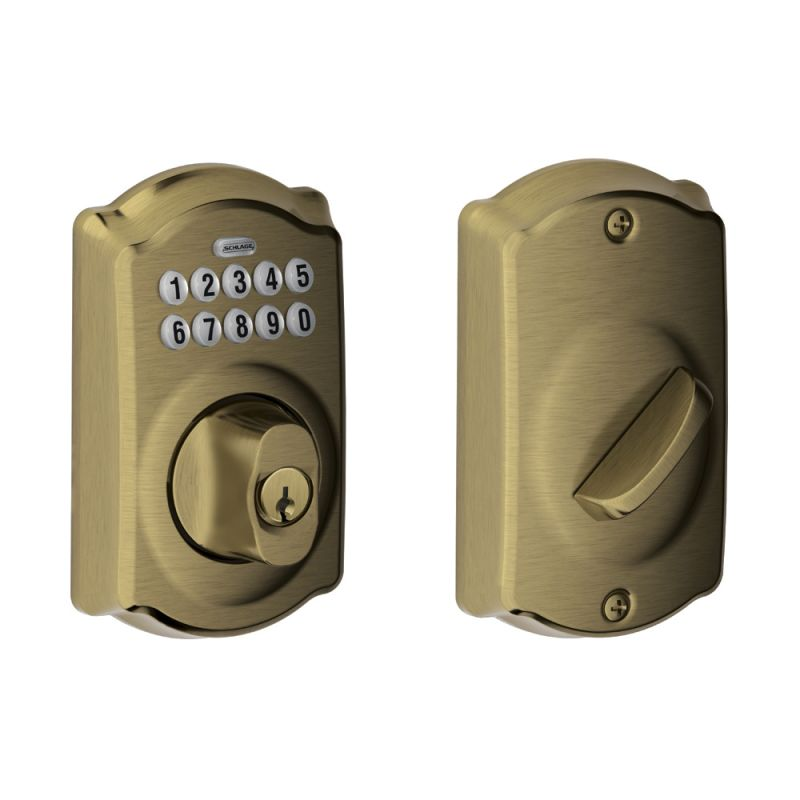 Schlage BE365-CAM Camelot Electronic Keypad Single Cylinder Deadbolt photo