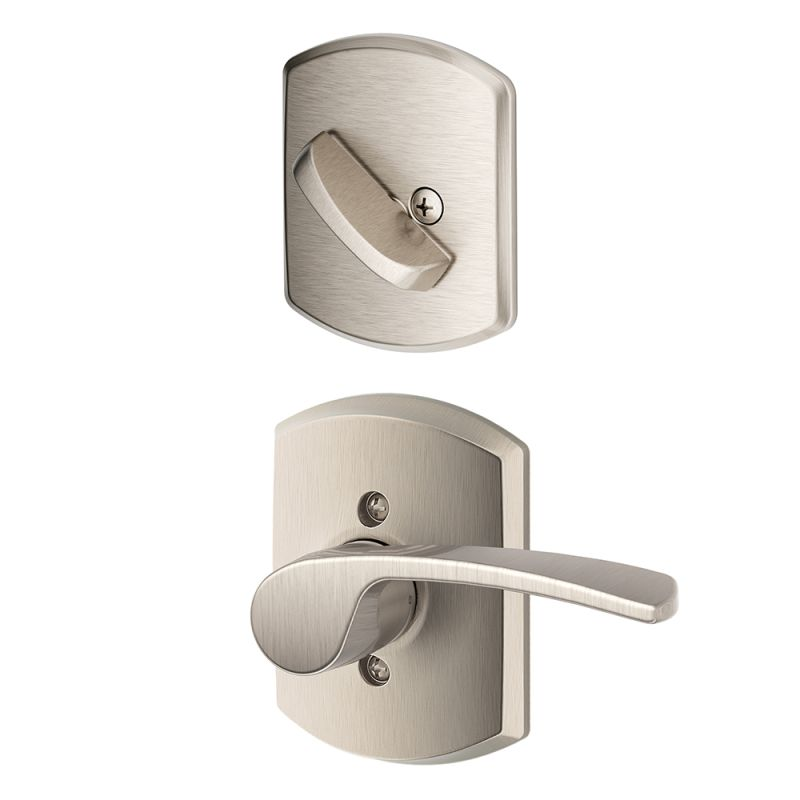 Schlage Satin Chrome F Series Single Dummy On Brinks Door