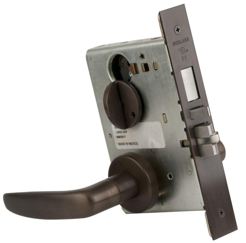 Schlage L9453 L-Series Commercial Grade 1 Mortise Keyed Entry Single Cylinder En -  L9453613